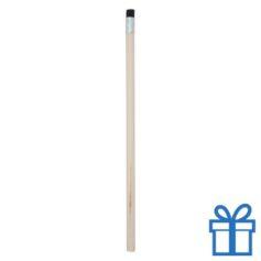 Natuurlijk houten potlood gum zwart