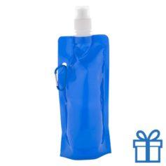 Navulbaar PET drinkzakje blauw bedrukken