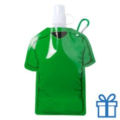 Navulbaar drinkzakje t-shirt vorm groen bedrukken
