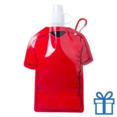 Navulbaar drinkzakje t-shirt vorm rood bedrukken
