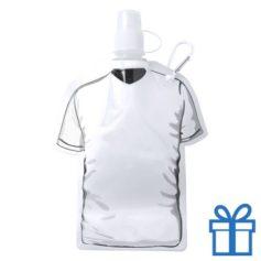 Navulbaar drinkzakje t-shirt vorm wit bedrukken