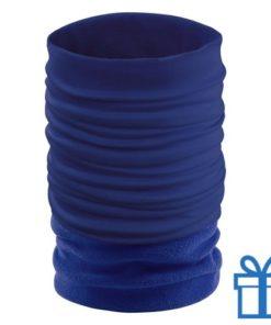 Nek verwarmer blauw bedrukken