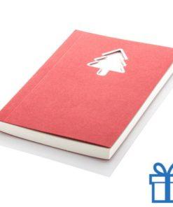 Notitieboek kerstboom bedrukken