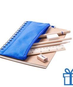 Notitieboek milieuvriendelijk blauw