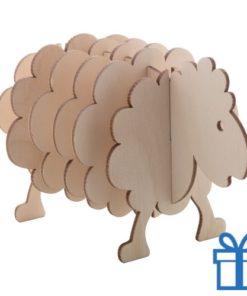Onderzetters dierenvorm schaap bedrukken