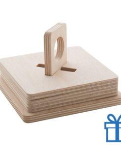 Onderzetters hout 6 bedrukken