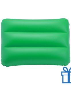Opblaasbaar strandkussen groen bedrukken