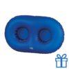 Opblaasbare bekerhouder blauw bedrukken