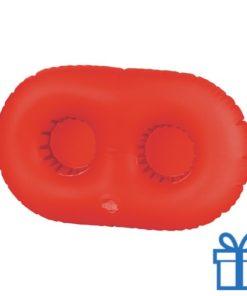 Opblaasbare bekerhouder rood bedrukken