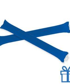 Opblaasbare cheering sticks 2 stuks blauw bedrukken