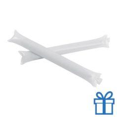 Opblaasbare cheering sticks 2 stuks wit bedrukken