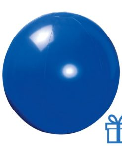 Opblaasbare strandbal shiny blauw bedrukken
