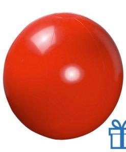 Opblaasbare strandbal shiny rood bedrukken