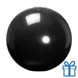 Opblaasbare strandbal shiny zwart bedrukken