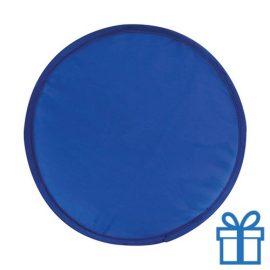 Opvouwbare frisbee blauw bedrukken