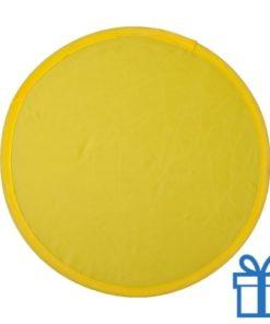 Opvouwbare frisbee geel bedrukken