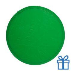 Opvouwbare frisbee groen bedrukken