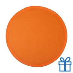 Opvouwbare frisbee oranje bedrukken