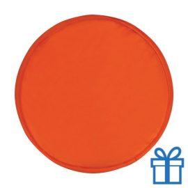 Opvouwbare frisbee rood bedrukken