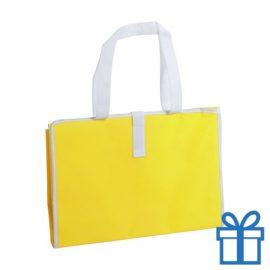 Opvouwbare strandmat geel bedrukken