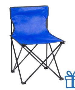 Opvouwbare strandstoel blauw bedrukken
