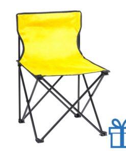 Opvouwbare strandstoel geel bedrukken