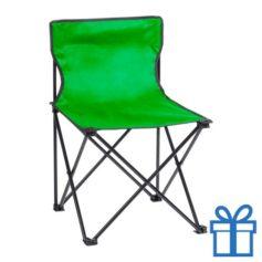 Opvouwbare strandstoel groen bedrukken