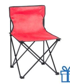 Opvouwbare strandstoel rood bedrukken