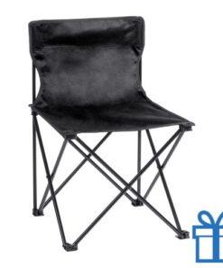 Opvouwbare strandstoel zwart bedrukken