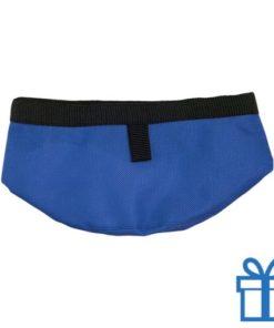 Opvouwbare voerbak blauw bedrukken