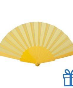 Opvouwbare waaier windy geel bedrukken