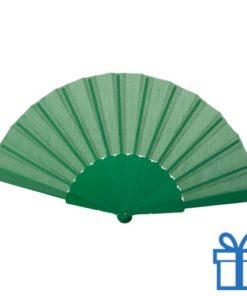 Opvouwbare waaier windy groen bedrukken