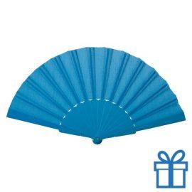 Opvouwbare waaier windy lichtblauw bedrukken