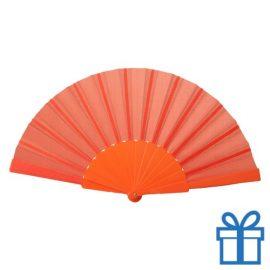 Opvouwbare waaier windy oranje bedrukken