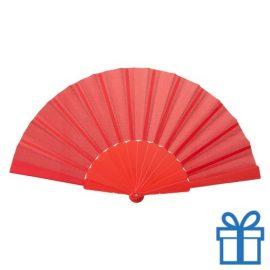 Opvouwbare waaier windy rood bedrukken