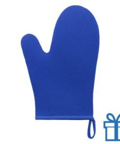 Ovenwant blauw bedrukken