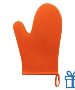 Ovenwant oranje bedrukken