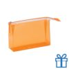 PVC toilettas make-up bag oranje bedrukken