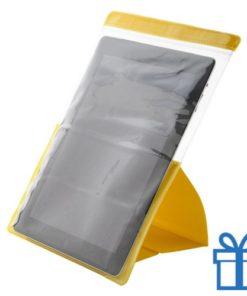 PVC waterdichte tablethouder geel bedrukken