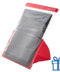 PVC waterdichte tablethouder rood bedrukken