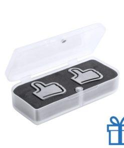 Paper clip set duim