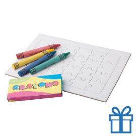 Papieren kids kleurenpuzzel inkleuren bedrukken