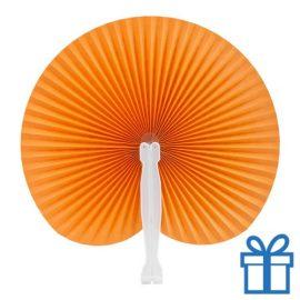 Papieren waaier goedkoop opvouwbaar oranje bedrukken