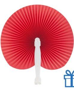 Papieren waaier goedkoop opvouwbaar rood bedrukken