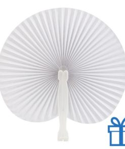 Papieren waaier goedkoop opvouwbaar wit  bedrukken