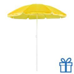 Parasol strand geel bedrukken