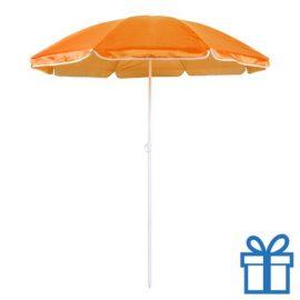 Parasol strand oranje bedrukken