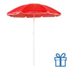 Parasol strand rood bedrukken