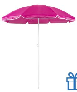 Parasol strand roze bedrukken