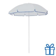 Parasol strand wit blauw bedrukken